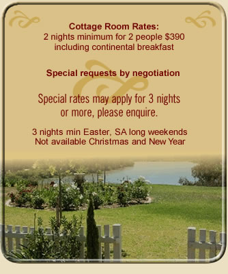 Paringa House Luxury Bed and Breakfast accommodation in the Riverland with river views